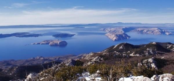 Ljepota pogleda s vrhova Velebita na Jadransko more