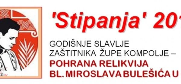Slavlje Stipanje u subotu u Kompolju