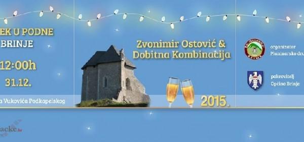 Doček Nove godine u podne 31.12. u Brinju