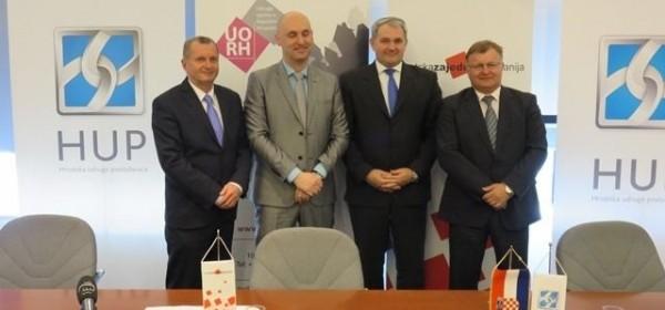 Potpisan Sporazum o suradnji između HUP-a, Zajednice županija, Udruge gradova i Udruge općina