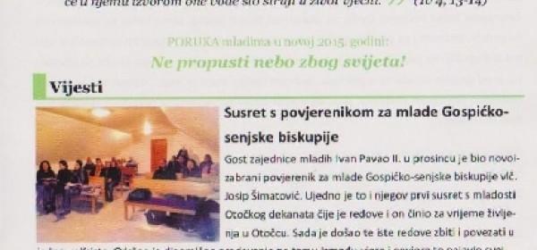 """""""Živa voda"""" - list Zajednice mladih Ivan Pavao II.Otočac"""