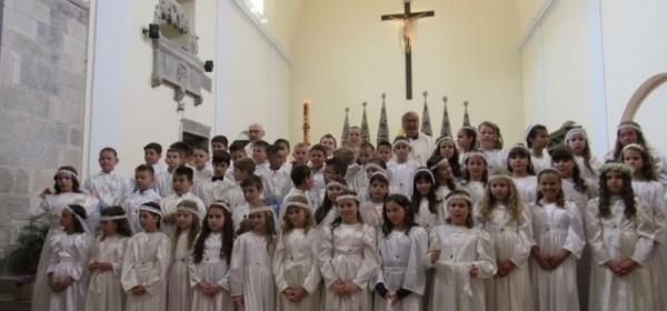 Slavlje Prve svete  pričesti u senjskoj katedrali