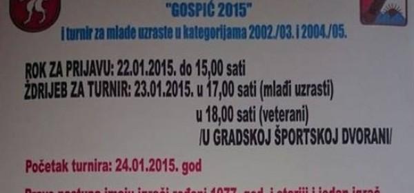 """Danas početak 2.veteranske malonogometne lige """"Gospić 2015"""""""