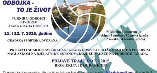 Turnir u odbojci povodom Dana Grada Gospića