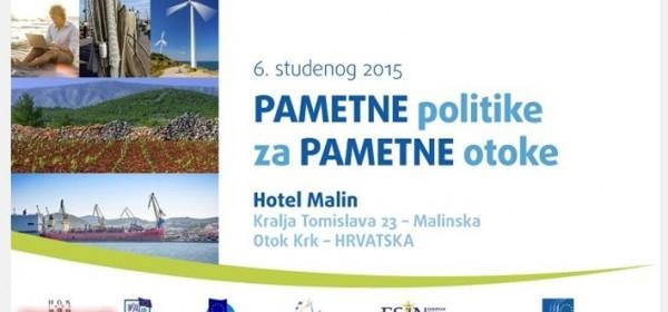 Pametne politike za pametne otoke - sutra u Malinskoj na Krku
