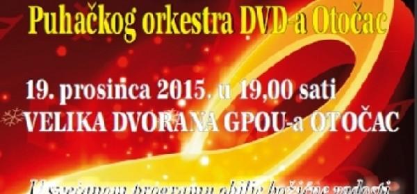 Božićno-novogodišnji koncert Puhačkog orkestra otočkog DVD-a