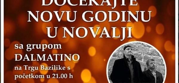Doček Nove godine u Novalji i Dalmatino