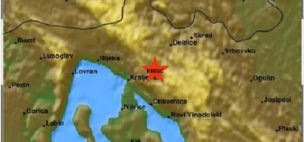Serije lakih potresa u Hrvatskom primorju