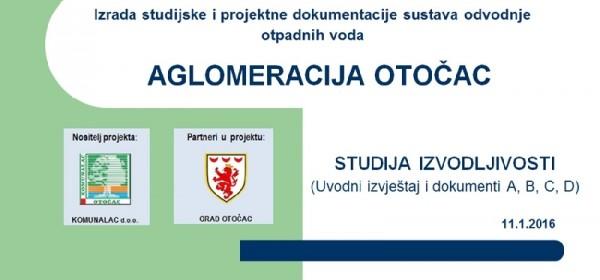 Održana prezentacija studijske dokumentacije projekta AGLOMERACIJA OTOČAC