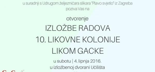 10. Likovna kolonija LIKOM GACKE