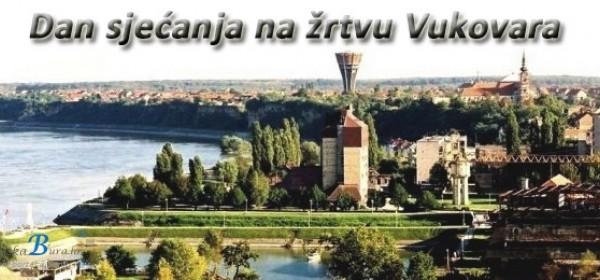 Obilježavanje pada Vukovara na platou ispred Gimnazije u Senju