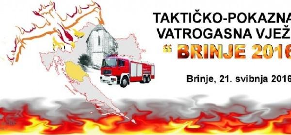 """Taktičko-pokazna vatrogasna vježba """"Brinje 2016"""""""