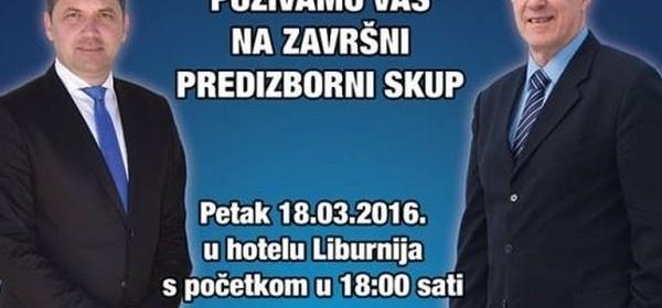 Završni predizborni skup HDZ-a i koalice