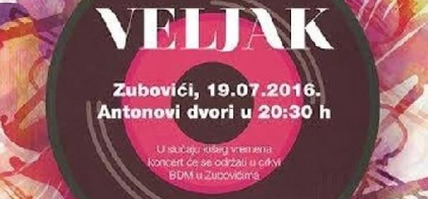 Koncert kvarteta Veljak u Zubovićima