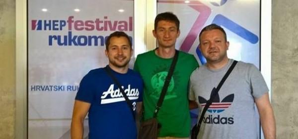 Tri trenera RK Gospić na festivalu rukometa u Umagu