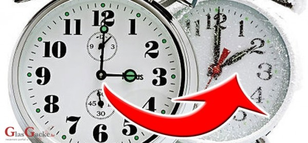 Započinje zimsko računanje vremena