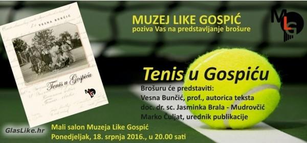Tenis u Gospiću - u ponedjeljak