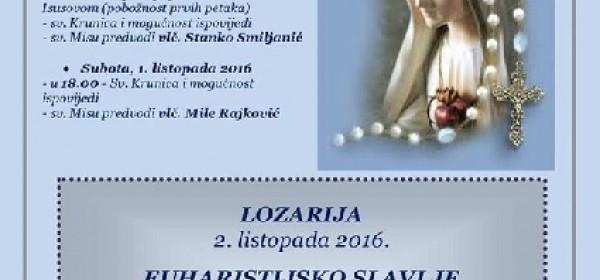 Veliko slavlje Lozarije 2. listopada