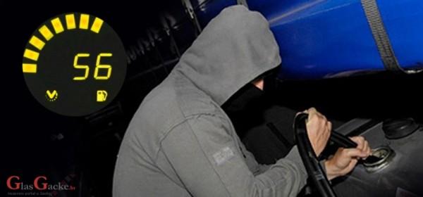 Ukralo automobil, gorivo, novac i kobasice