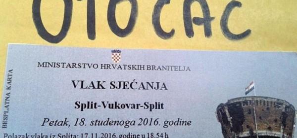 120 Gačana večeras vlakom putuje za Vukovar