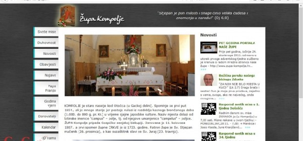 Mali jubilej portala Župe Kompolje