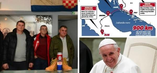 Branitelji-hodočasnici preko Krbave do Rima