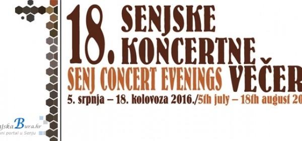 Večeras počinju 18.Senjske koncertne večeri