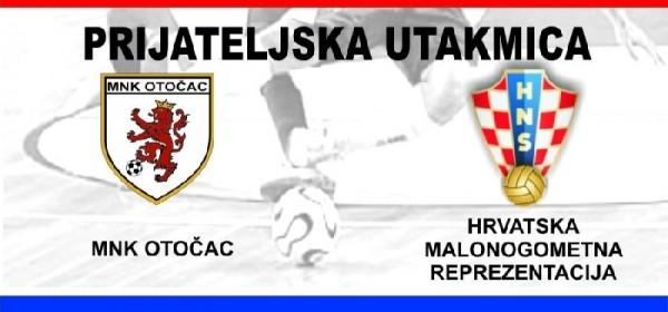 Prijateljska tekma MNK Otočac i Hrvatska malonogometna reprezentacija