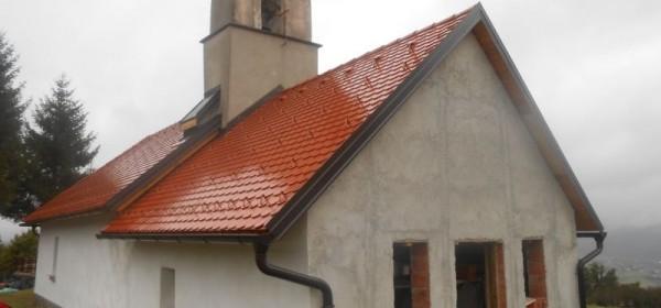 Radovi na obnovi kapelice sv.Nediljice u Brinjskoj Kamenici
