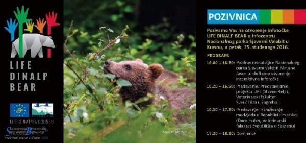 Otvorenje info-točke u Infocentru Nacionalnog parka Sjeverni Velebit