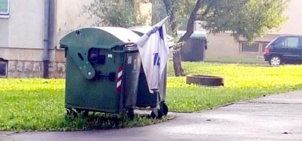 Tko su ti koji su bacili stranačku zastavu u kontejner ?
