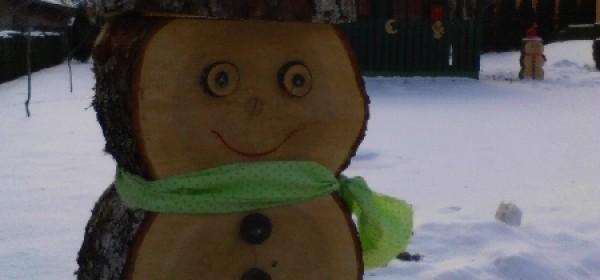 Atraktivno: drveni snjegovići!?