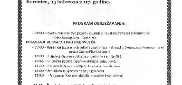 Program proslave Oluje u Općini Plitvička Jezera