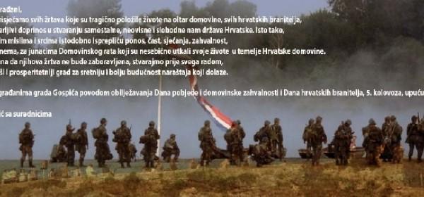 Čestitka gradonačelnika Karla Starčevića