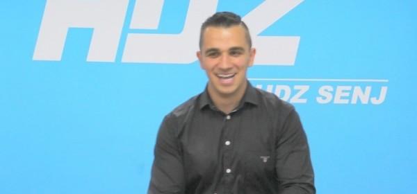 Tiskovna konferencija Sanjina Rukavine, kandidata GO HDZ - a Senj