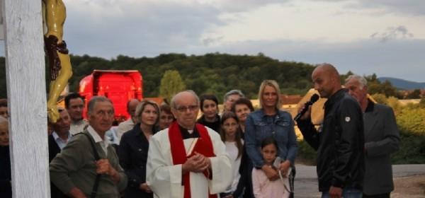 Blagoslov obnovljenog križa na Poljicima
