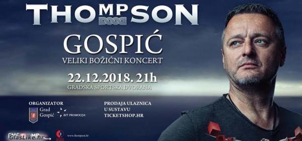 Thomposonov Božićni koncert u Gospiću