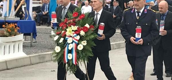 Delegacija grada Senja odala počast poginulim policajcima na Žutoj Lokvi
