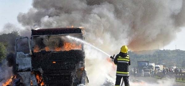 Zapalio se kamion
