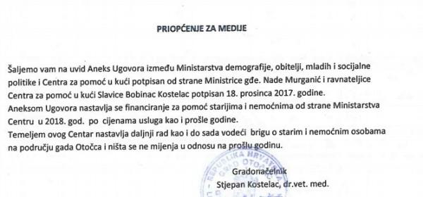 Ministrica Murganić spasila od Gradskog vijeća Centar za pomoć u kući