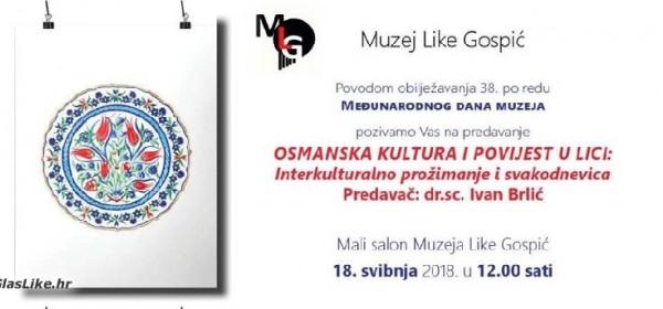 O osmanskoj kulturi u Lici - predavanje