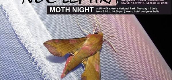 Noć leptira - 10. srpnja u NP Plitvička jezera