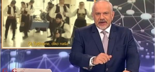 Šprajcovi Srbi koja pjevaju i slave Tuđmana obična su podvala i laž