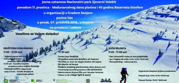 Međunarodni dan planina u Nacionalnom parku Sjeverni Velebit – 7. prosinca 2018. godine