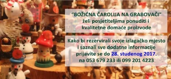 Prijave za sudjelovanje u Božićnoj čaroliji na Grabovači