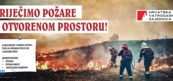 Dolazi vrijeme povećanog broja vatrogasnih intervencija