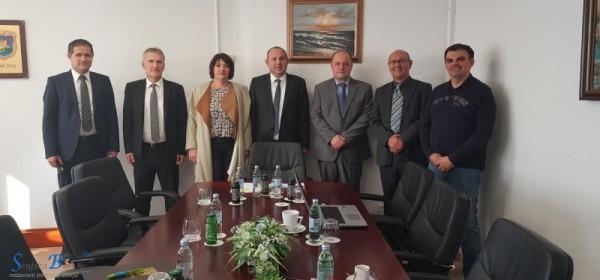Radni sastanak gradonačelnika grada Senja Sanjina Rukavine i državnoga tajnika u Ministarstvu pravosuđa dr. sc. Kristijana Turkalja