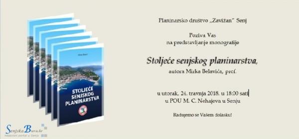 """Promocija monografije """"Stoljeće senjskog planinarstva"""" – Mirko Belavić, prof. – PD """"Zavižan"""""""