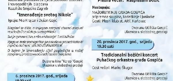 Prosinačka koncertno-kazališna sezona POU Gospić