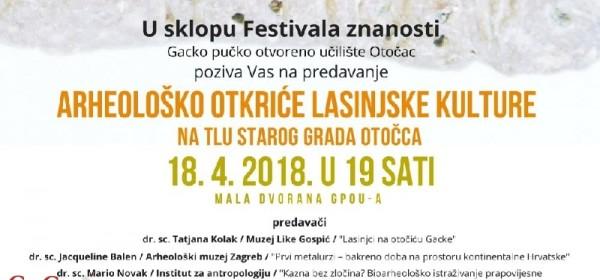 Predstavljanje arheološkog otkrića lasinjske kulture u Otočcu